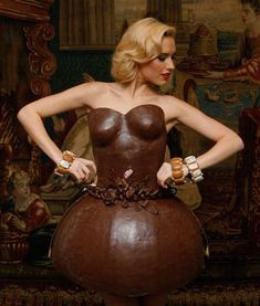 Food Fashion chocolate dress