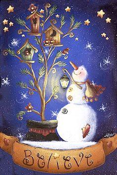 Snowman & Birdhouses ARTISTA: HOLLY HANLEY - Ana Cecilia Chaverri - Picasa Web Albums