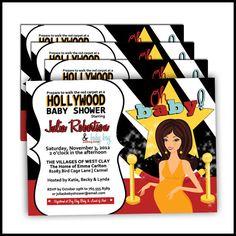 Hollywood Baby Shower Invitations Movie Star Diva