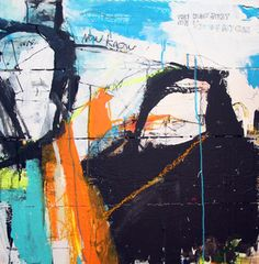 Now Know - Greg Holden Regan - mixed media painting on wood panels. #art