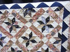 Detail. Borden Family Quilt reproduction by Florence McConnell. Lancaster Host, Lancaster, PA, 2013. Part of the AQSG 2010 Study of 19th Century Quilts.