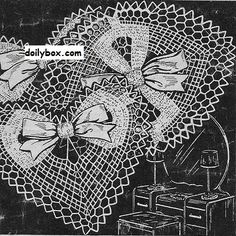 Free Crochet Patterns Heart Doily Pattern