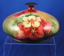 Ceramic Art Company (CAC) Lenox Belleek Nasturtium Motif Vase (c.1889-1906)