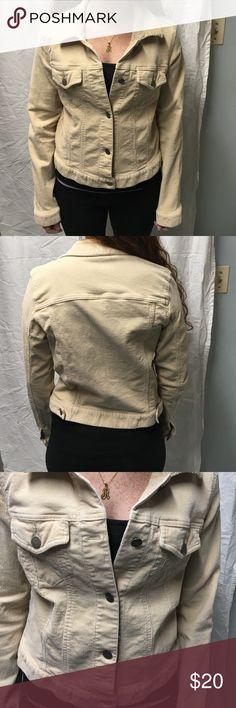 Theory L corduroy jacket Tan (ish?) corduroy jacket, by Theory, size L. Shown on size 1 model. Theory Jackets & Coats