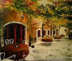 """sunsurfer: """" Sidewalk Cafe, Venice Italy photo by """" why wasn't i actually born in italy instead of just being of italian descent. Oh The Places You'll Go, Places To Travel, Places To Visit, Sidewalk Cafe, Italy Pictures, Italy Images, Voyage Europe, Thinking Day, Tuscany Italy"""