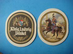 BEER COASTER ~*~ Konig Ludwig Prinz Luitpold Dunkel ~ Kurassier Horse Regiments