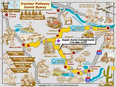 Frontier Pathway Scenic Byway Map