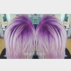Violet shadow root. Hair by kaylakon.