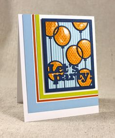 Let's Party Card by Lizzie Jones for Papertrey Ink (January 2015)