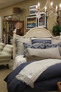 aaaah... naptime! Beautiful bedding from Home At Last by Dan Brungardt.