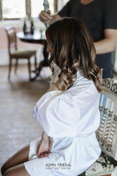 Glossy, tumbling waves #BridalHair #WeddingHair #WeddingStyle