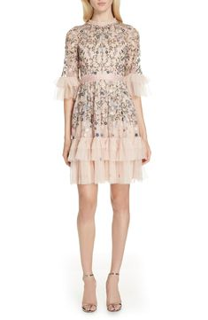 Find Needle & Thread Dusk Floral A-Line Dress online. Shop the latest collection of Needle & Thread Dusk Floral A-Line Dress from the popular stores - all in one Best Wedding Guest Dresses, Plunge Dress, Prom Looks, Rose Dress, Holiday Dresses, Needle And Thread, Nordstrom Dresses, Dresses Online, Designer Dresses