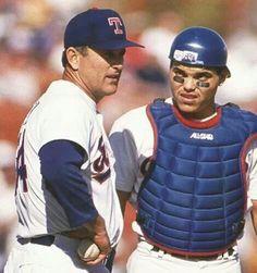 Nolan Ryan Pudge Rodriguez #Texas #Rangers #TexasRangers #MLB #Baseball #HallOfFame