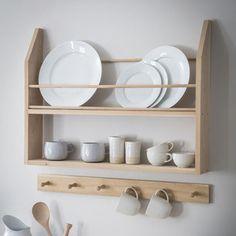 Plate Shelves, Plate Storage, Plate Racks, Wall Shelves, Shelving, Wall Mounted Kitchen Storage, New Kitchen, Kitchen Decor, Kitchen Organisation