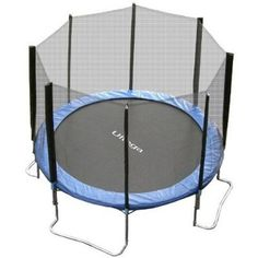 Durable 10-Feet diameter trampoline with a UV resistant mat and full-surround safety net   Durable and stable base of galvanized steel tubing; maximum weight capacity of 440 pounds