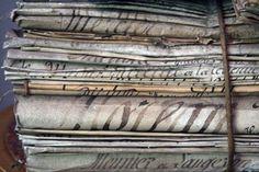 Stack of eighteen century papers  Beautiful Bundles  http://willows95988.typepad.com