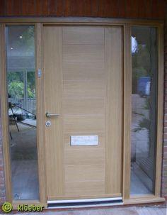 Modern wooden front door Kloeber Funkyfront