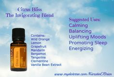Smells like a creamsicle... Works like a dream! LOVE this blend! It makes your bed smell great too. ;) www.mydoterra.com/KierstinOBrien