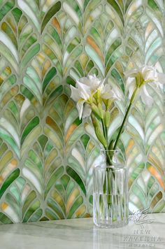 Margot, a jewel glass waterjet mosaic | New Ravenna