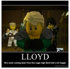 Heh heh...Cole's not happy #Ninjago