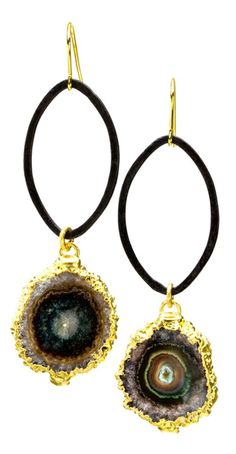 Pagoda-Audrey Sterling Silver Gold Overlay #Earings #Stalactite #NinaNguyen