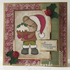 Spencer Loves Christmas, available from Little Miss Muffet Stamps