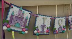 Handmade Princess Banner - Custom made - GO GREEN - Name Banner Happy Birthday Baby Shower Bridal Shower Princess Cricut Banner, Diy Banner, Pennant Banners, Party Banners, Name Banners, Happy Birthday Baby, Girl Birthday, Birthday Parties, Theme Ideas
