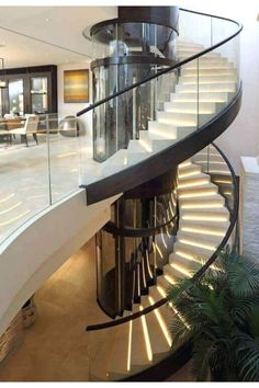 29 Trendy Ideas for Stairs Contemporany Modern Stairs Stairs Contemporany Trendy Ideas for Stairs Contemporany Modern Staircase Stairs Contemporany .: 29 Trendy Ideas for Stairs Contemporany Modern Staircase Stairs Contemporany Stairs Contemporany Curved Staircase, Staircase Design, Staircase Glass, Glass Balustrade, Staircase Ideas, Foyers, Stairs Canopy, Building Stairs, Floating Stairs