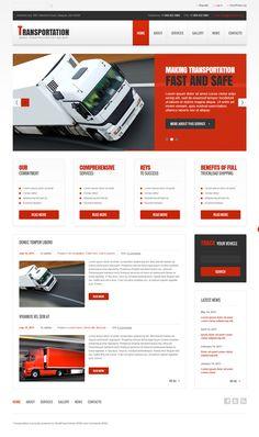 553f3f8a2f4b4 Transportation WordPress Theme. TransportWzory Stron InternetowychSzablon  Wordpress