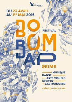Festival of Visual Realization Boom Bap The city of Reims will live for a week to the rhythm of hip-hop in various disciplines: music, dance, visual arts, sports and gastronomy. Poster Design Layout, Graphic Design Posters, Graphic Design Inspiration, Cool Poster Designs, Typography Design Layout, Dm Poster, Type Posters, Poster Ideas, Illustration Design Graphique