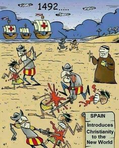 1492: Spain introduces Christianity to the New World