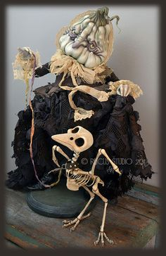 Rucus Studio: Drucilla Fusspot is a stuffy old gourd who saunters along in her moth-eaten dress airing the remains of her beloved pet crow. By Scott Smith.