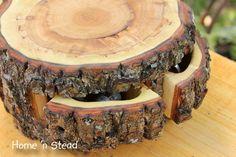 Storage Stump Rustic Log Jewelry Box Natural Puzzle Box Drawers Organizer Gift. $64.00, via Etsy.
