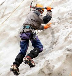 Advance #Mountaineering Course - Trainee ascending with the help of Single #Ice Axe