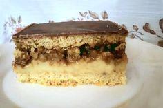 Výborný orechový zákusok Dessert Recipes, Pie, Sweets, Ethnic Recipes, Food, Tiramisu Recipe, Cacao Powder, Caramel, Dessert Ideas