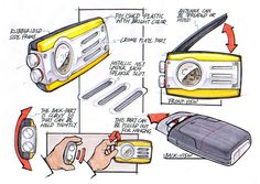 Sketches - Rugged Radio by pave dow, via Behance