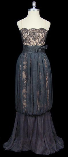 Lace and silk chiffon gown (TheFrock.com)