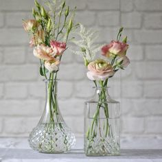Pressed Glass Decanter Wedding Centrepiece