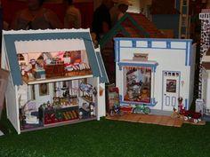 Dura-Craft Ashley Interior (on the left) & Toys Shop - State Fair Dollhouse exhibit - Gallery - The Greenleaf Miniature Community
