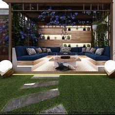 Admirable Modern Backyard Design Ideas You Will Love 01 Backyard Patio Designs, Modern Backyard, Backyard Landscaping, Landscaping Ideas, Backyard Ideas, Design Cour, Terrasse Design, Outdoor Living, Outdoor Decor
