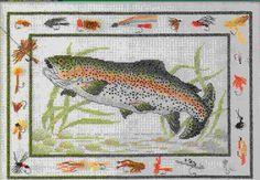 Fly Fishing Cross Stitch Pattern Leaflet 03148 L by carolinagirlz2