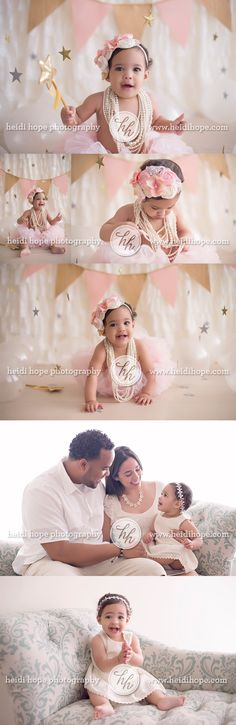 Twinkle, twinkle, little star. A first birthday session for beautiful princess L.