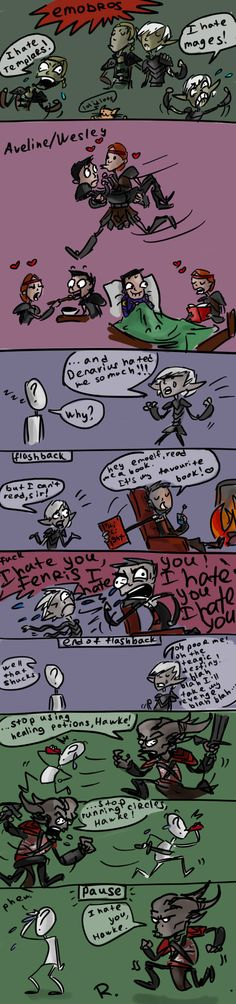 Dragon Age 2, doodles by Ayej