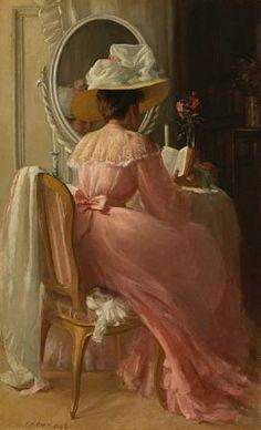 Patrick William Adam A Lady in Pink 1899