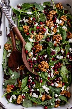 This Christmas Dinner, Go BIG - Winter Salad with Maple Candied Walnuts and Balsamic Fig Dressing - Christmas Dinner Menu, Christmas Menu Ideas, Christmas Meals, Christmas Dinner Ideas Family, Chrismas Food Ideas, Christmas Holiday, Winter Dinner Ideas, Christmas Entertaining, Christmas Cooking