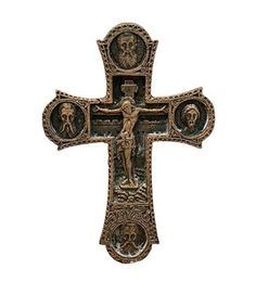 $8.00 Small Cell Crucifix from the Workshop of St. Elisabeth Convent - http://catalog.obitel-minsk.com/ -  #gypsum #polymer #cross #orthodox #crucifix #cross #delivery #order #online