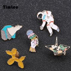 Women Cute Cat Brooch Stamp Metal Brooch Enamel Pin Clothes Accessories SW