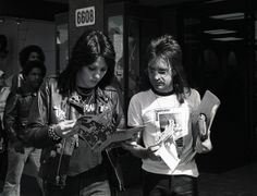 A REALLY rare photograph of Joan Jett on Hollywood Blvd with our pal Rodney Bingenheimer, The Mayor of The Sunset Strip back in 1977. Photo ...