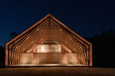 Free span Rigid Frame but in wood instead of steel.  The+Architectural+League+Announces+Emerging+Voices+of+2015
