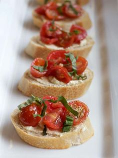 A Less Processed Life: What I'm Bringing to the Party: Bruschetta with Whipped Feta and Fresh Tomatoes
